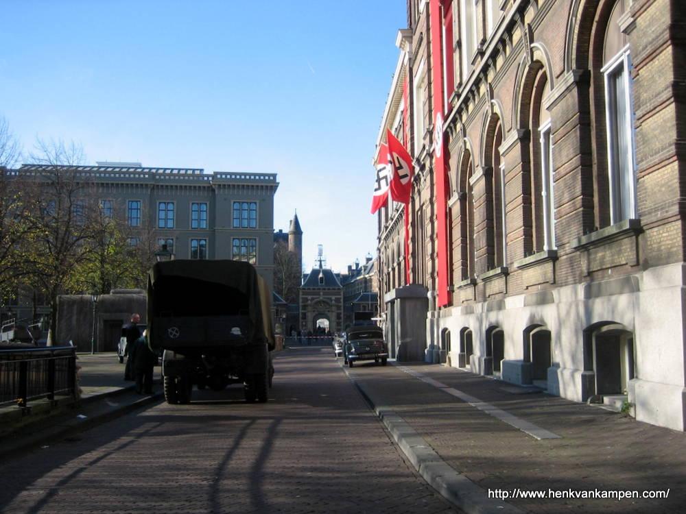 """Opnames voor """"Zwartboek"""", Den Haag"""